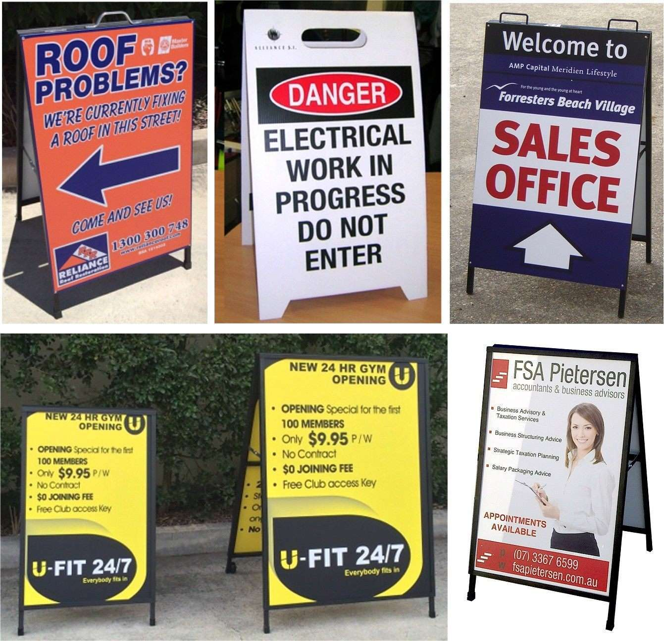 "Custom ""A"" Frame signs Brisbane QLD"