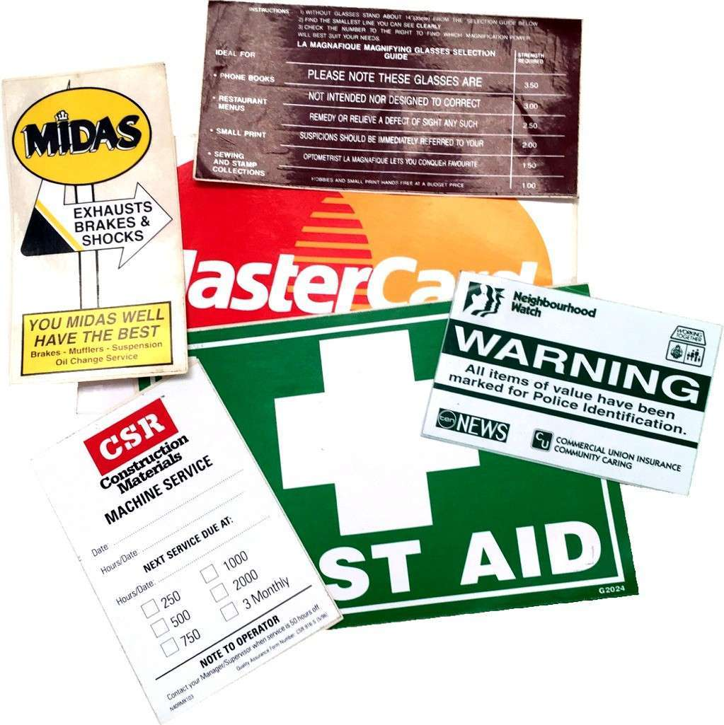 Stickers Labels And Signs Products - Custom vinyl stickers australia   the advantages