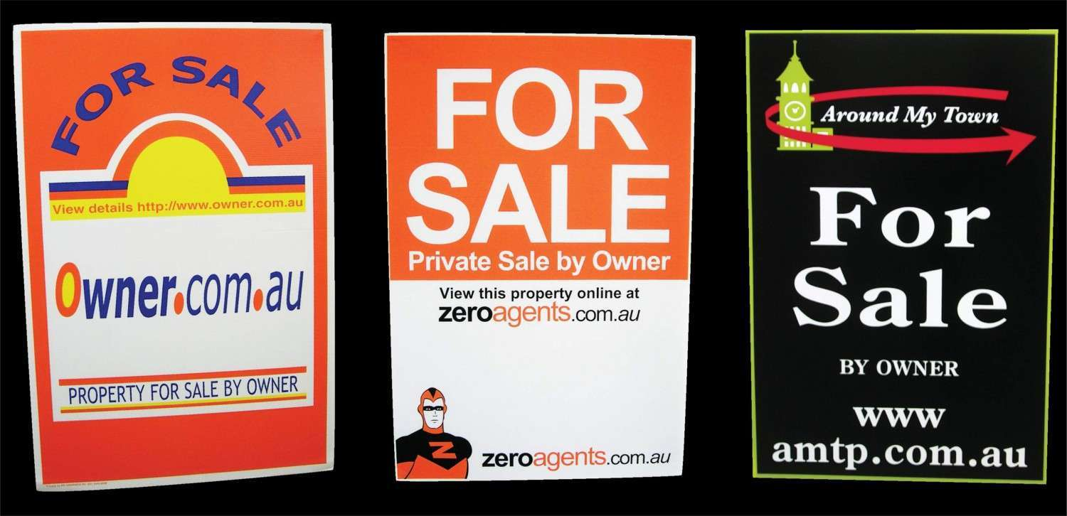 House for sale signs made in qld