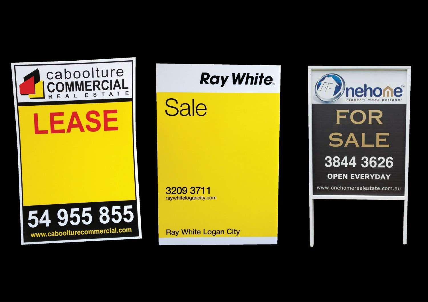 Ray White, Caboolture, Nehome, Real Estate Agents signs qld